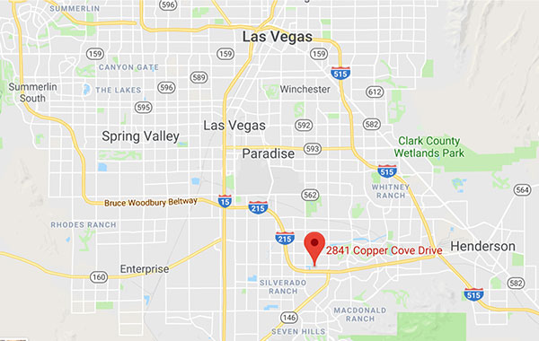 Tidy Nest Cleaning Las Vegas Service Area Map