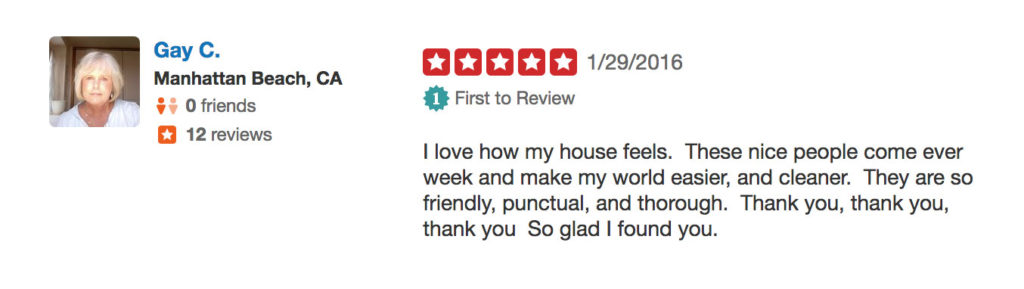 Tidy Nest Cleaning Review by Gay C.